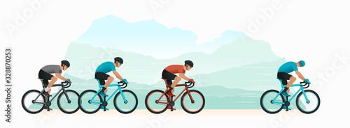 Fotografie, Obraz Cycling in nature