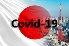 Covid 19 In Japan. Japanese Fl...