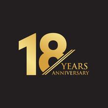 18th Year Anniversary Logo Des...