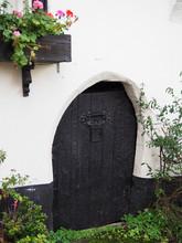 A Quaint Little Wooden Door In...