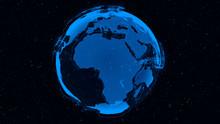 3D Digital Earth Shows Concept...