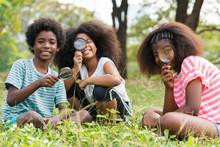 African American Children Sitt...