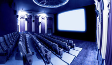 Cinema Theater Screen In Front...