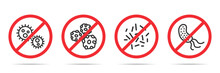 Set Of No Virus Icons In Four ...