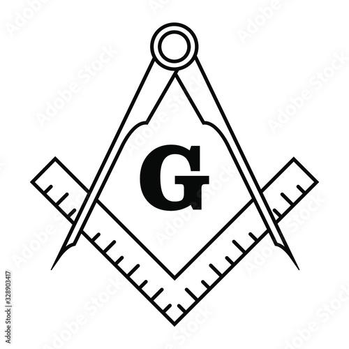 Fotografia, Obraz Freemason logo symbol icon illustration
