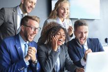 Happy Business People Laugh Ne...