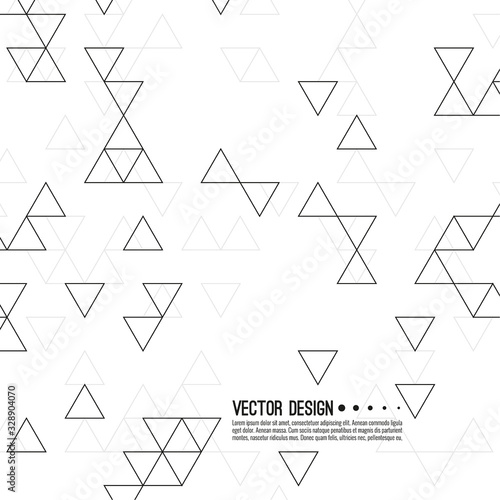 Abstract background with intersecting geometric triangular shapes Wallpaper Mural