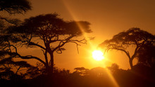 Sunrise With Sun Between Afric...