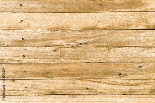 front view of vintage aged brown color wood stripe horizontal backgrounds tex...