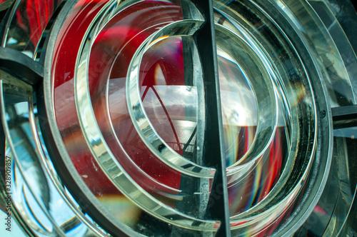 Fototapeta lente tipo fresnel de faro marítimo