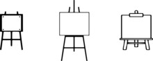 Easel Icon Isolated On White B...