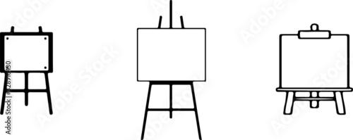 Photo easel icon isolated on white background