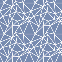 Abstract Seamless Pattern With White Asymmetrical Chaotic Net