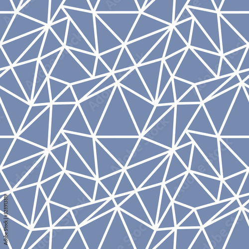 Abstract seamless pattern with white asymmetrical chaotic net Canvas Print