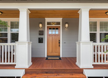 Covered Porch And Front Door O...