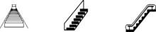 Escalator Icon Isolated On Bac...