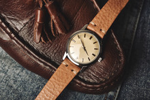 Vintage Wristwatch With Luxury...
