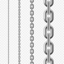 Seamless Chain Pattern. Silver...