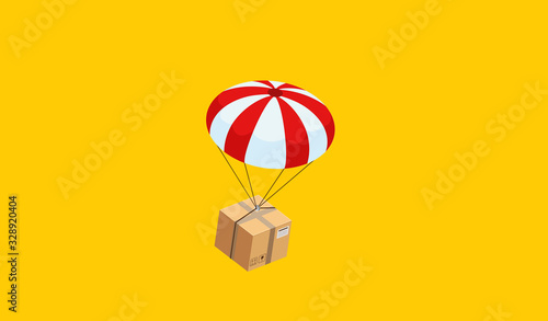 Photo cardboard parcel box of product for deliver to customer