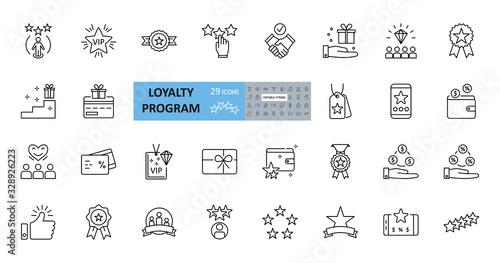 Fotografía Loyalty program icons
