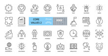 Set Of Icons Core Values. 29 V...
