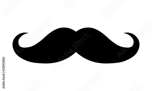 Fototapeta Flat black mustache icon. Vector illustration eps 10