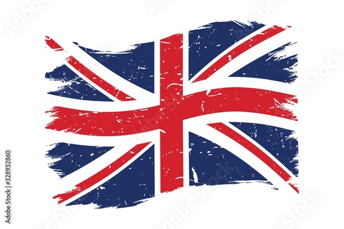 Photo Grunge UK British flag vector illustration