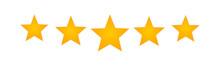 Five Star Icon. 5 Stars. Vecto...
