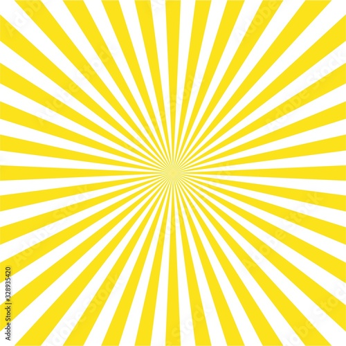 Fototapeta Abstract light yellow sun rays background, vector illustration obraz na płótnie