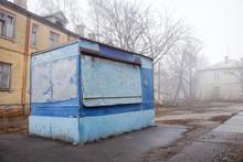 Abandoned Blue Shopping Stall ...