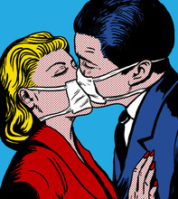 Kissing Couple With Antiviral ...