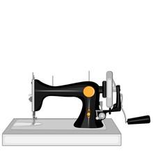 Rare Sewing Machine With Manua...