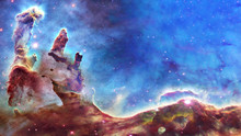 Pillars Of Creation And Space ...