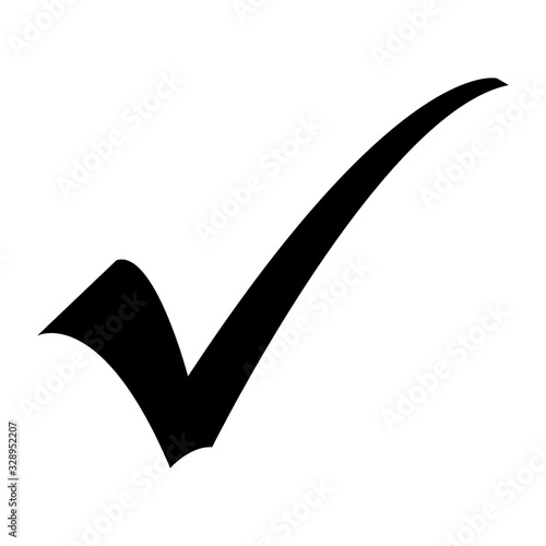 Valokuvatapetti Black Checkmark from Highlighter or Permanent Marker