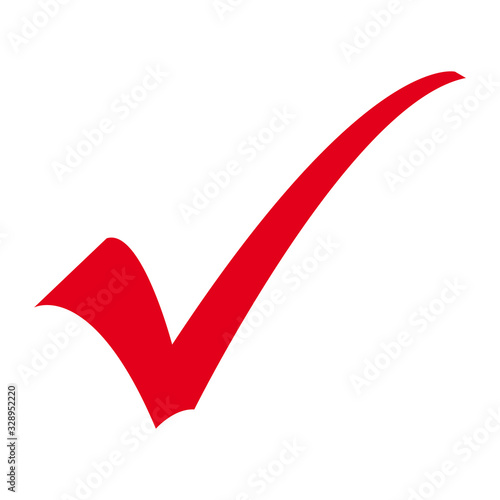 Fotografia, Obraz Red Checkmark from Highlighter or Permanent Marker