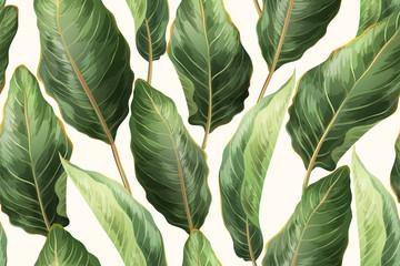 FototapetaPalm leaves seamless pattern