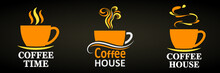Coffee House, Set Elegant Cup ...