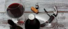 Botellas De Vino Tinto Con Sac...