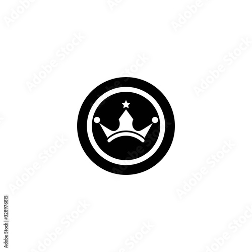 Photographie Crown logo template vector illustration