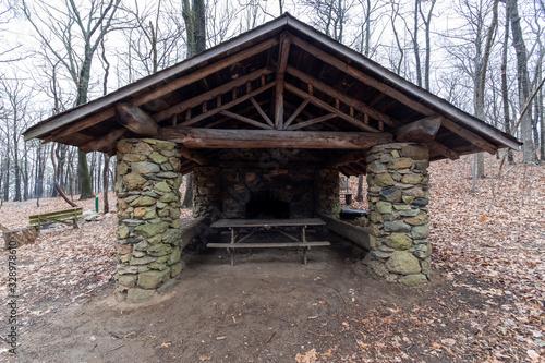 Appalachian trail shelter Canvas Print