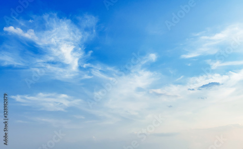 Fotografie, Obraz blue sky with white cloud view nature