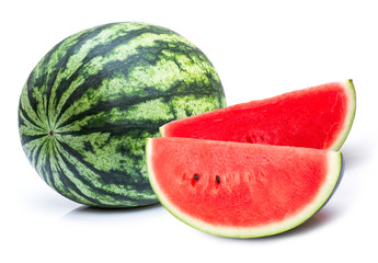 Watermelon isolated on white background .