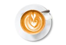 Closeup White Ceramic Cup Of L...