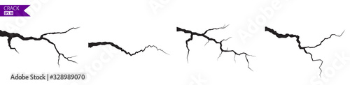 Photo Ground cracks set