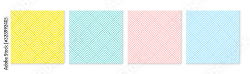 Background pattern seamless chevron abstract colorful pastel colors Wallpaper Mural