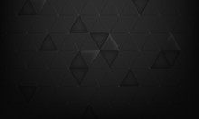 Black Background Geometric Tri...