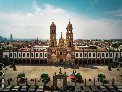 Fotografie, Obraz Zapopan center Basilica in Jalisco Mexico