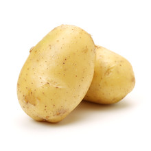 New Potato Isolated On White B...