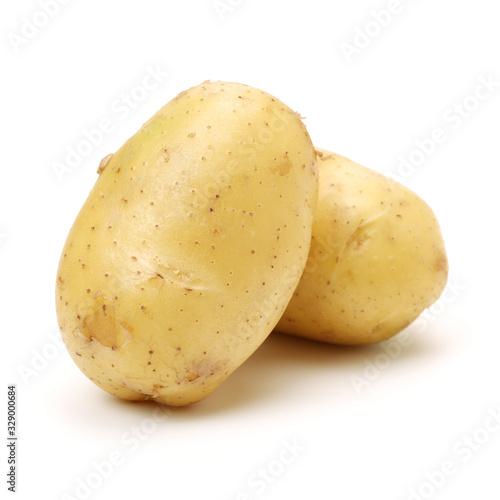 Valokuva New potato isolated on white background