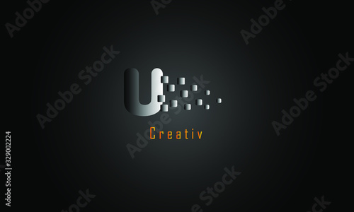 Photographie Abstract letter logo | Free Vector. U Latter logo